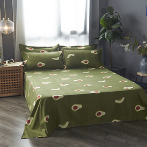 Image 5 - Cartoon fruit Bedding Set Soft Quilt Cover Pillowcase Warm Soft bed sets twin full queen king duvet cover sets green bedclothes