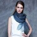 2016 Nuevo Diseño de Lujo de la Marca Solid Real 100% de Seda Del Verano de la Bufanda de La Arruga de Las Mujeres Elegante Del Mantón Del Abrigo Largo Suave