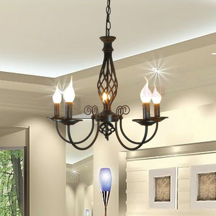 Rural contracted black wrought iron lamp for sitting room dining-room bedroom 5heads candle chandelier литой диск proma премьер 7x17 5x114 3 d67 1 et46 неро page 5