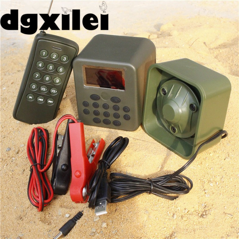 Xilei 2017 Free Shipping Outdoors Duck Call Mp3 Sounds Hunting Bird Caller 50W 150Db Remote Control Bird Caller With Timer 2 receivers 60 buzzers wireless restaurant buzzer caller table call calling button waiter pager system