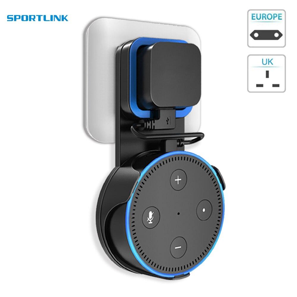 Soporte de Pared para Cable de Pared Dot de 2/ª generaci/ón para  Alexa Echo Dot