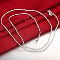 Wholesale 925 Silver Rope Chain Necklace For Men/Women Charm 2MM Wide Necklace Jewelry fit Pendant Jewelry Gift N226