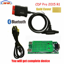Hot Selling Gold TCS CDP With Bluetooth 2015.R3 Keygen New VCI CDP Pro auto OBD diagnostic tool  NEW VCI For CARS/TRUCKS