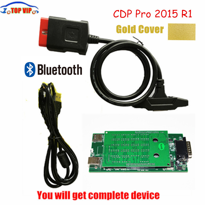 Prix pour Nouveau Design Or TCS CDP Avec Bluetooth 2015. R3 Keygen Nouveau VCI CDP Pro auto OBD outil de diagnostic NOUVEAU VCI Pour VOITURES/CAMIONS