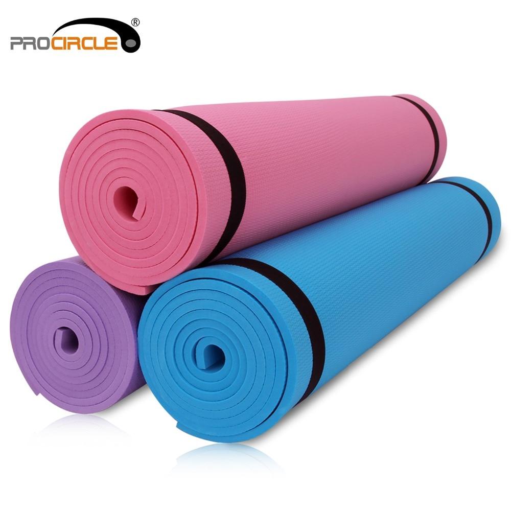 EVA Yoga Mat 6mm grueso antideslizante Fitness para Yoga Pilates