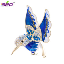 Hummingbird Brooch Animal Broach Crystals Rhinestone Pins for Women Jewelry Accessories Birthday Gifts 2493