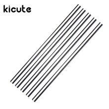KiCute Hot 5pcs Glass Stirring Rod for Lab Use Stiring Stirrer Laboratory 150mmx5mm Transparent School Tools Glass Buret Mixer