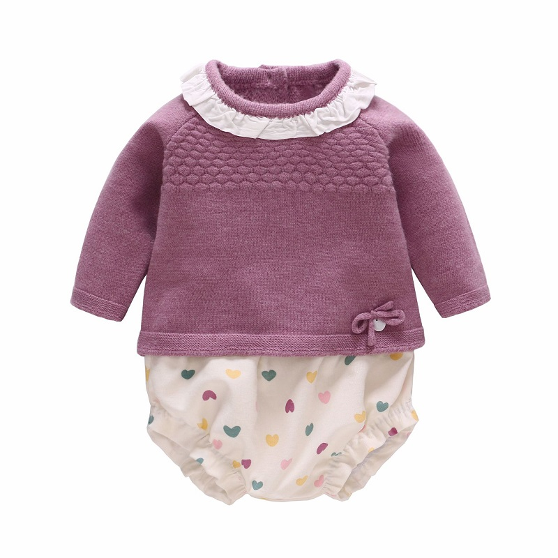 Vlinder New child Child Woman garments Child Woman Sweater set Toddler Comfortable cotton underpants Sweater 2pcs set Clothes Units Youngsters 6M-3T Clothes Units, Low-cost Clothes Units, Vlinder New child...