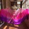 Мода 250 * 114 см размер 100% настоящее чистого шелка танец живота завесы фиолетовый - фуксия - розовый для танцев или этап - показать