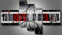 100%hand painted wall art The new collage wall home decor Landscape Frame canvas oil painting 5pcs/set mixorde