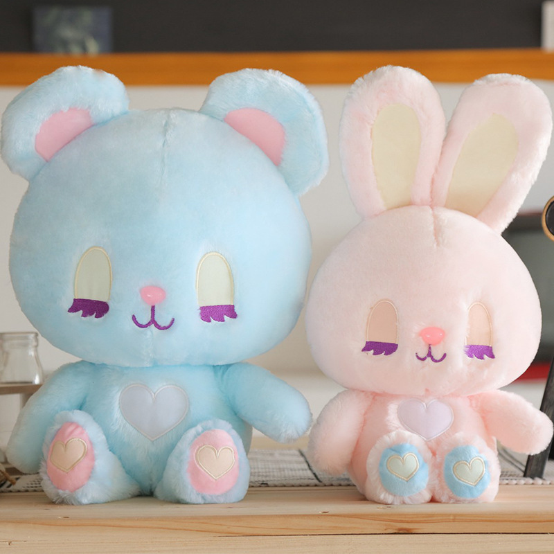 35*40cm Cute Rabbit Bear Kawaii Animal Doll Soft Plush Toy Quality Baby Sleeping Birthday Gift Girl Child Decoration Appease