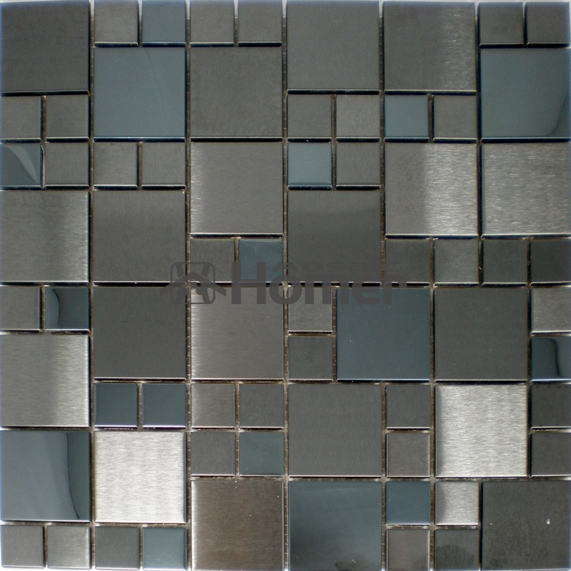 Free Shipping 12x12 Stainless Steel Kitchen Backsplash Dining Room Mosaic Tile Sheets Bedroom Wall