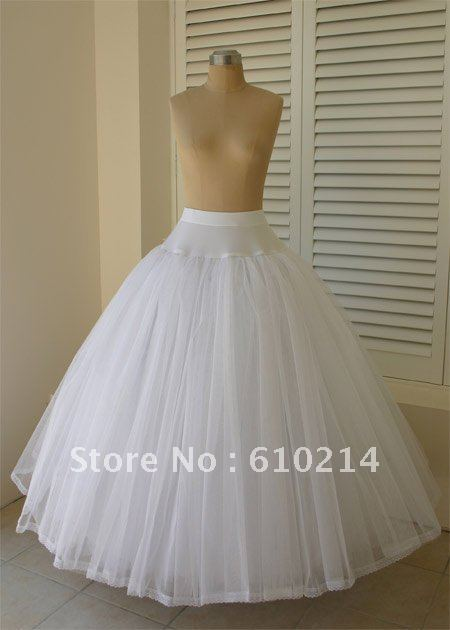 Elegant 100 brand new tulle ball gowns wedding petticoats for Tulle petticoat for wedding dress