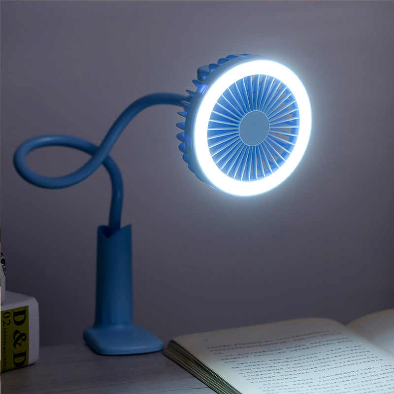 Air Wiederaufladbare 360 Rotation Mini Tragbare Mit Led fan Tragbare Hand Fan cool wind Für Büro Home Reise
