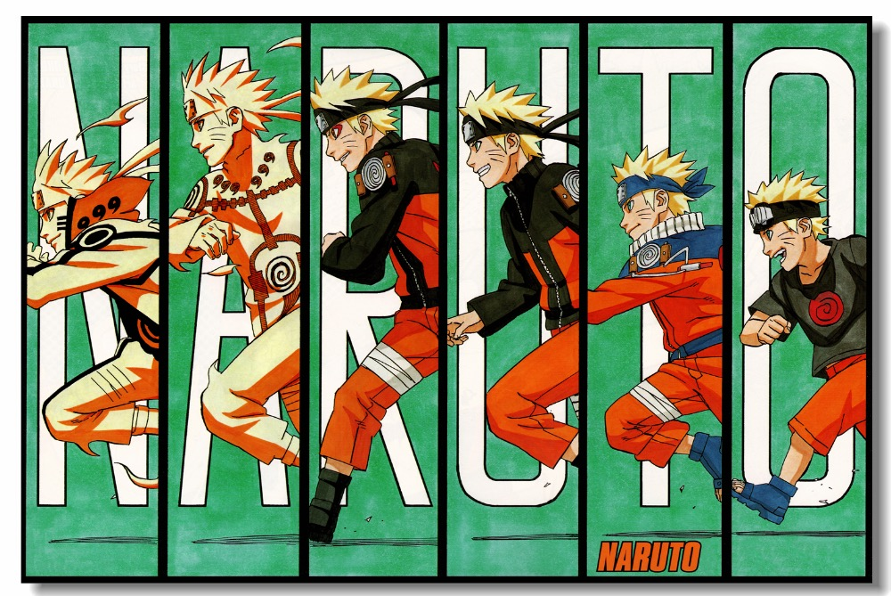 Us 575 28 Offcustom Canvas Wall Mural Naruto Shippuden Poster Uzumaki Naruto Wallpaper Bedroom Wall Sticker Nursery Room Decorations 0809 In