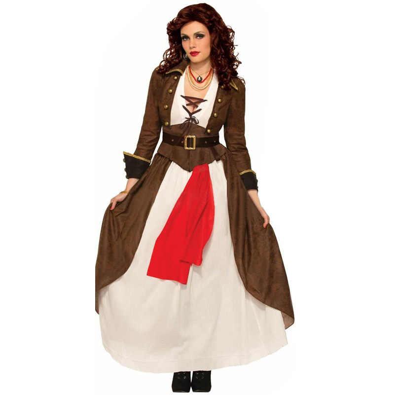 Пиратские костюмы для косплея, костюмы для косплея, для взрослых, ЖЕНСКИЕ НАРЯДНЫЕ ПЛАТЬЯ, Хэллоуин, ведьма, Готическая униформа