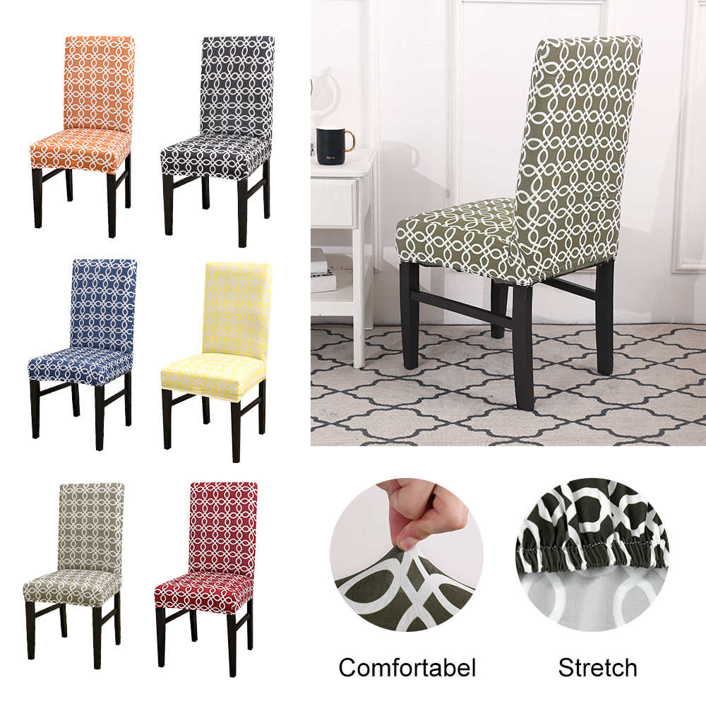 Incredible Kitchen Chair Cover Stretch Elastic Seat Chair Kitchen Slipcover Chair Covers Flower Plaid Dining Chair Cover Spandex 1Pc Pabps2019 Chair Design Images Pabps2019Com