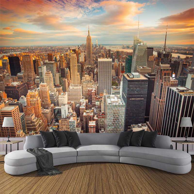 JiaSheMeiJu пользовательские обои 3D городской пейзаж современные 3D фото обои для гостиной стены спальни Настенные обои домашний декор