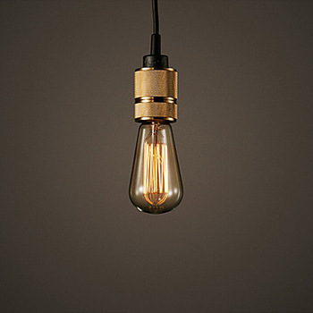 ФОТО Industrial Hooked Edison Bulb Loft Vintage Pendant Lights Lamp With 1 Light Free Shipping