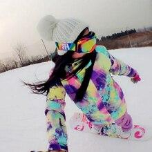 New Winter Ski Suit Womens Snowboard Pants Veste Ski Femme Two Pieces Snow Suits Women's Ski Clothing Warm Waterproof