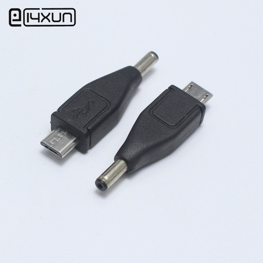 1pcs 3.5*1.1mm Male Plug To 5Pin Micro USB DC Power Plugs Charger Connector Adapter