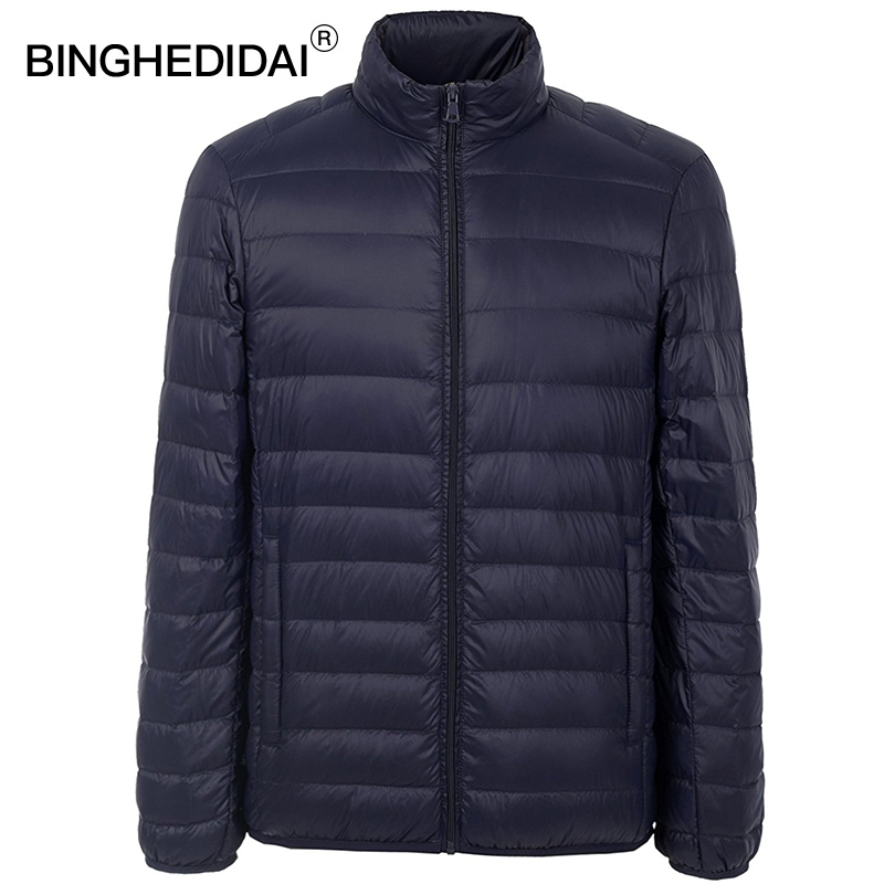 Ultra-léger veste compressible mens étanche canard plume veste coupe-vent léger compressible manteau plume rembourré