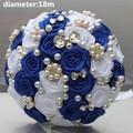 Новое Прибытие Груза падения Королевский Потрясающие Свадебные Букеты Атласные Розы Красивая Свадьба Букет