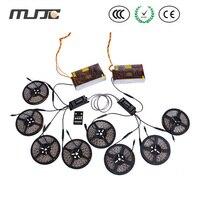 MJJC 4pcs 5m waterproof LED Strip Light+2pcs 25A RF dimmer+2pcs 300w power supply+1pc RJ45 cable set for light decoration