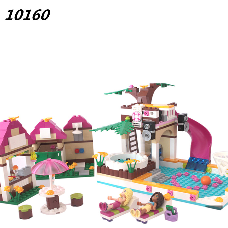 AIBOULLY 10160 Building Blocks Friends Heartlake City Pool Construction Educational Brick Toys for Girls Brinquedos 41008 материнская плата asrock fm2a88m hd r3 0 socket fm2 matx ret