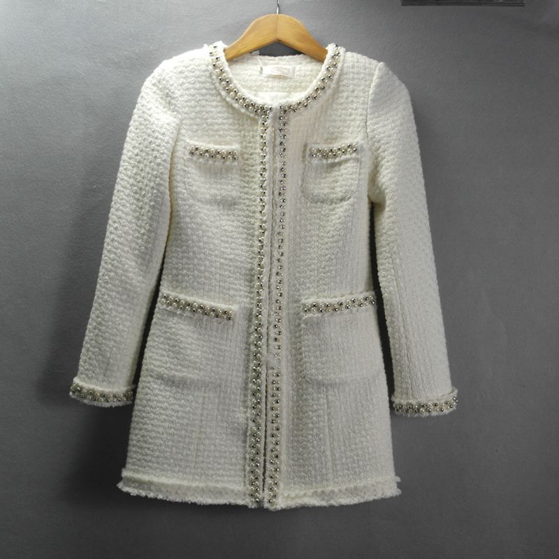 Online Get Cheap Winter White Tweed Long Coat -Aliexpress.com ...