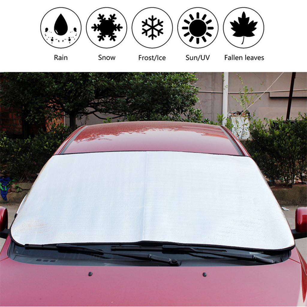 Image 2 - Car Sun Shade Auto Curtain  Windshield Snow Cover Ice Removal Wiper Visor Protector All Weather Winter Summer Sunshade Car-in Windshield Sunshades from Automobiles & Motorcycles