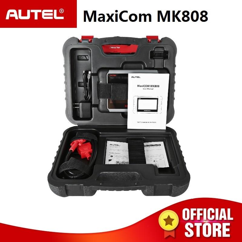 Autel MaxiCOM MK808 Automotive Diagnostic Scanner with IMMO/EPB/SAS/BMS/TPMS/DPF Service Code Reader for key programming цены