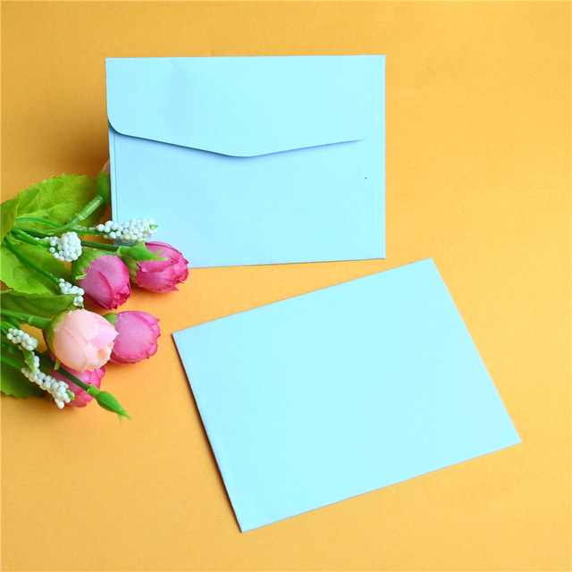 50pcs Lot 10 7 5m Color Paper Letter Diy Creative Small Envelope Blessing