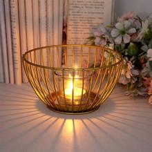 Candle Holders European Style Iron Candlestick Golden Mirror Wedding Holder Home Decoration Elegant Quick Delivery