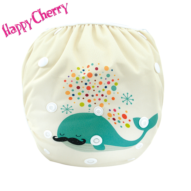 Happy Cherry 9 Styles Swim Diaper Leakproof Reusable Adjustable For Baby Infant Boys Girls Toddler 0-3Years