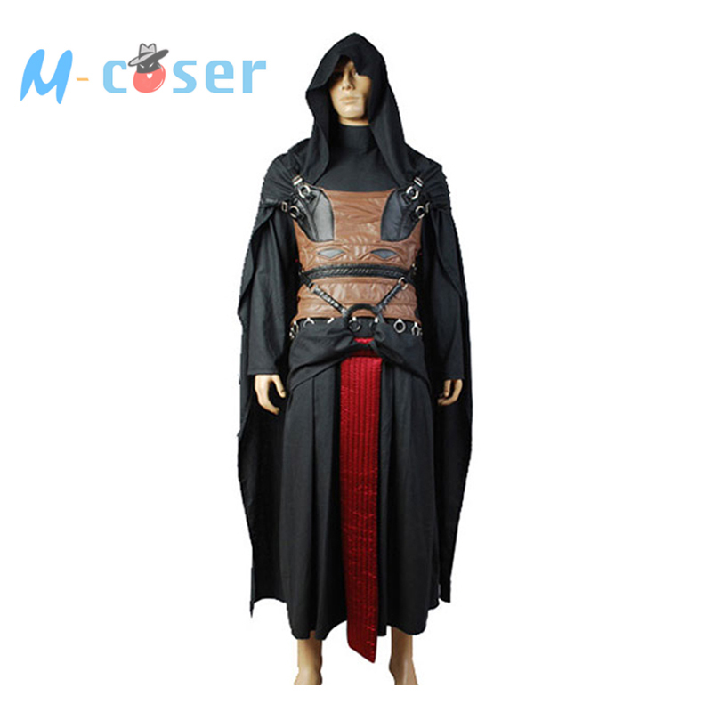 Darth Revan Costume Black Cape Uniform Cloak Obi Wan Kenobi Costume Halloween Outfit Robe Custom Made