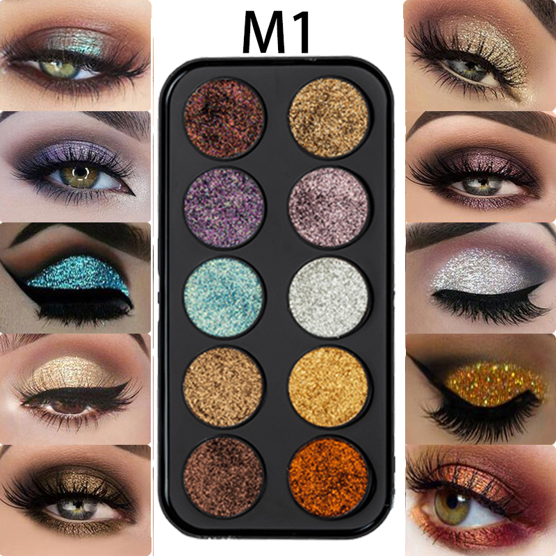 Beauty Essentials Miss Rose Eye Makeup 18 Color Metallic Glitter Eyeshadow Palette Highlighter Eye Shadow Eye Shadow