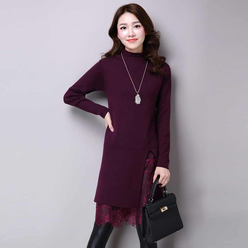 2017 Fashion Women Winter Dress Turtleneck Vestido De ...
