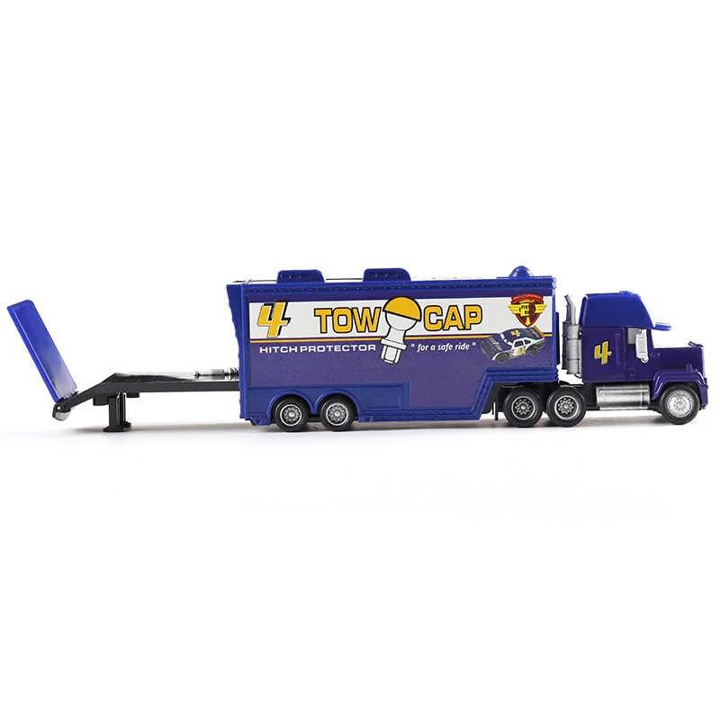Disney машинок пиксара и с рисунками из мультфильма «Тачки 2 3 игрушки Lightning McQueen № 4 грузовик самосвал МЭК, дядя грузовик, отлитый под давлением 1:55 Свободные игрушечный автомобиль Новое на складе