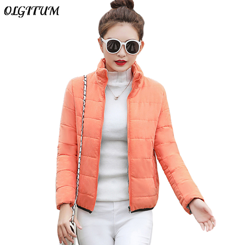 New Long Sleeve Women Short Winter Jacket Female Plus Padded Warm Coat Autumn Cotton Outwear   Parkas   Casual Basic Jacket Tops