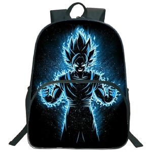 Image 5 - 아름다운 드래곤 볼 Z Goku 가방 어린이 소년 소녀 배낭 패션 다채로운 패턴 노트북 배낭 학교에 다시