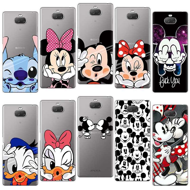 Cartoon Cute Funny <font><b>Case</b></font> For <font><b>Sony</b></font> Xperia 10 6.0 Inch Silicone For <font><b>Sony</b></font> <font><b>Xperia10</b></font> Back Cover Phone <font><b>Case</b></font> Thin Protect Clear Couple image