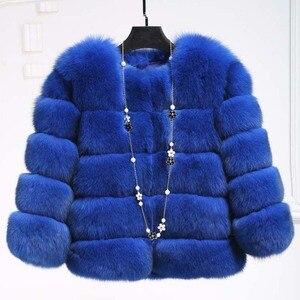 Image 4 - S 3XLミンクのコートの女性2020冬トップファッションピンクのフェイクファーコートエレガントな厚く暖かい上着フェイクファージャケットchaquetas mujer