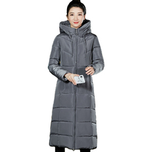 Длинная зимняя женская куртка с капюшоном, большие размеры, 5XL, 6XL, пальто с хлопковой подкладкой, Женская парка, парка, женская верхняя одежда, теплая куртка
