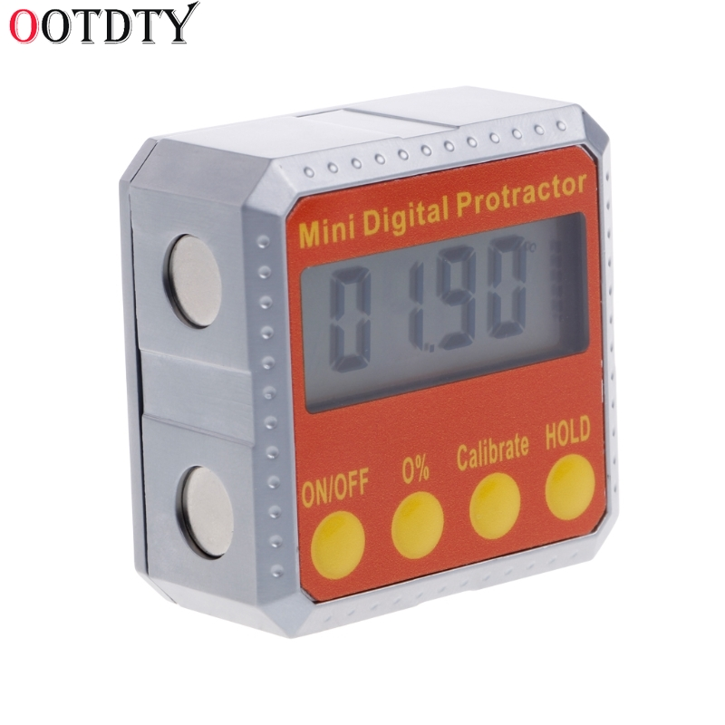 OOTDTY 1 PC 360 Degree Digital Protractor Inclinometer Electronic Level Box Magnetic Angle Gauge lixf 0 05 degree digital angle cube gauge electronic gauge sea level protractor magnetic base