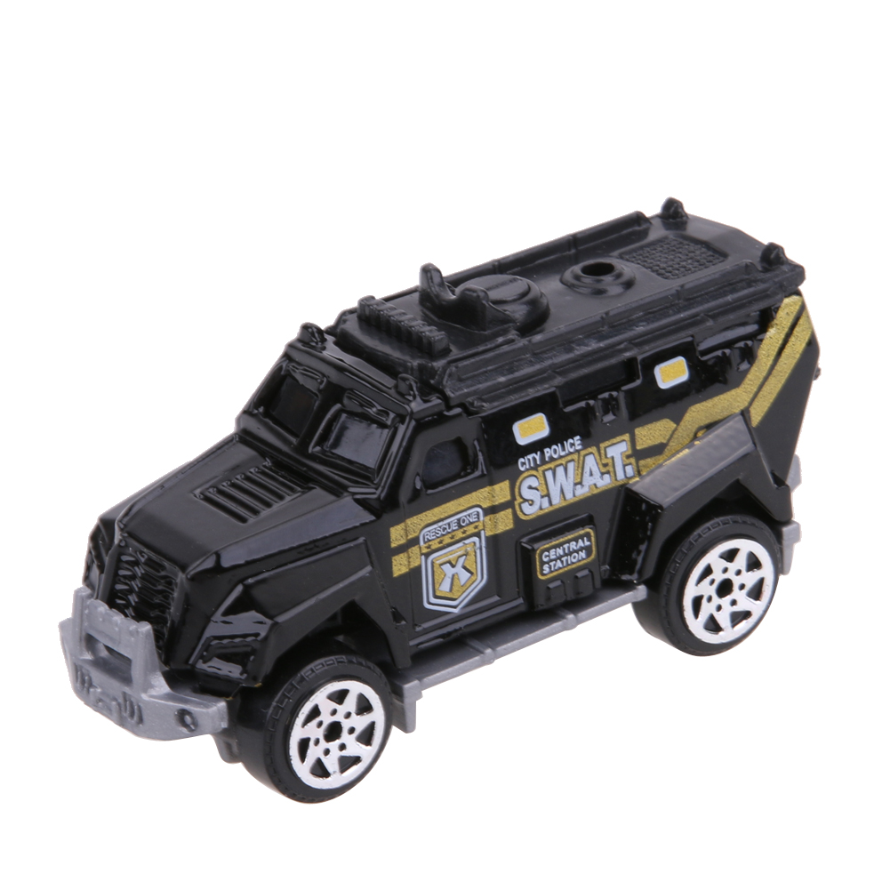 5pcs 1:64 Scale Alloy Police Car Models Kids Children Car Toy Gift Set Pull Back Police Sound and light Car Toys For Children ...