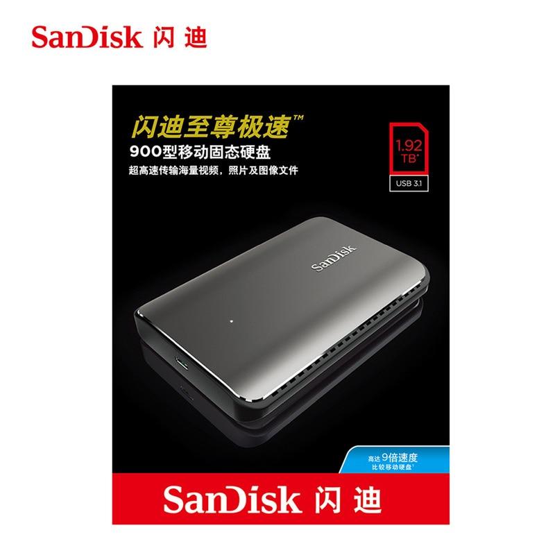 Sandisk SSD 900 850mbs 480 ГБ 960 ГБ 1.92 ТБ Внутренний твердотельный жесткий диск USB 3.1 Интерфейс для ноутбук Настольный ПК компьютер