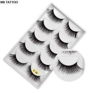 Image 4 - 새로운 3D 5 쌍 밍크 속눈썹 확장 메이크업 자연 긴 거짓 가위 가짜 눈 속눈썹 밍크 메이크업 도매 faux cils