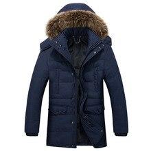 Men Padded Jacket Thicken Warm Parka Winter Quilted Jackets Male Hooded Long Sleeve Snow Parka Coat Outwear Halloween Fur Hood