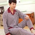 2017 Осень Зима хлопок Homme Мужчины хлопок Pijama Пижамы для Мужчин Пижамы Пижамы Мужчин Пижамы Ночной Рубашке Большой размер XXXL SY105 #3